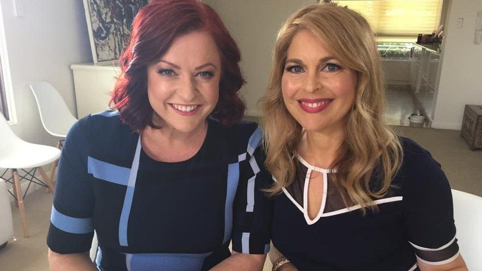 Ginni with co-host Shelly Horton