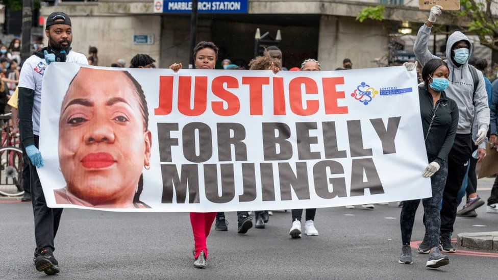 Protesters calling for justice for Belly Mujinga