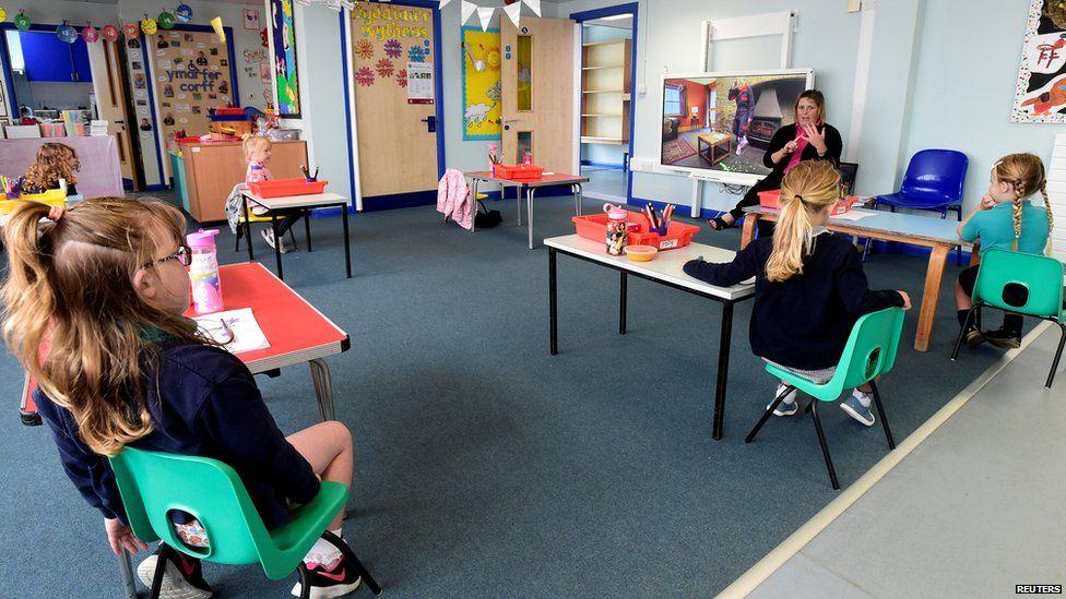 A primary school classroom