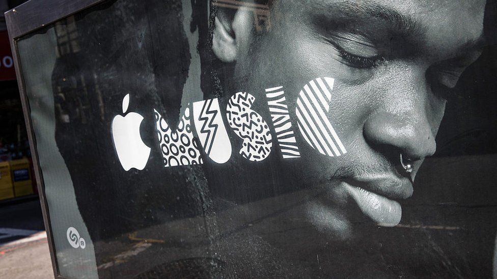 A advert for Apple Music