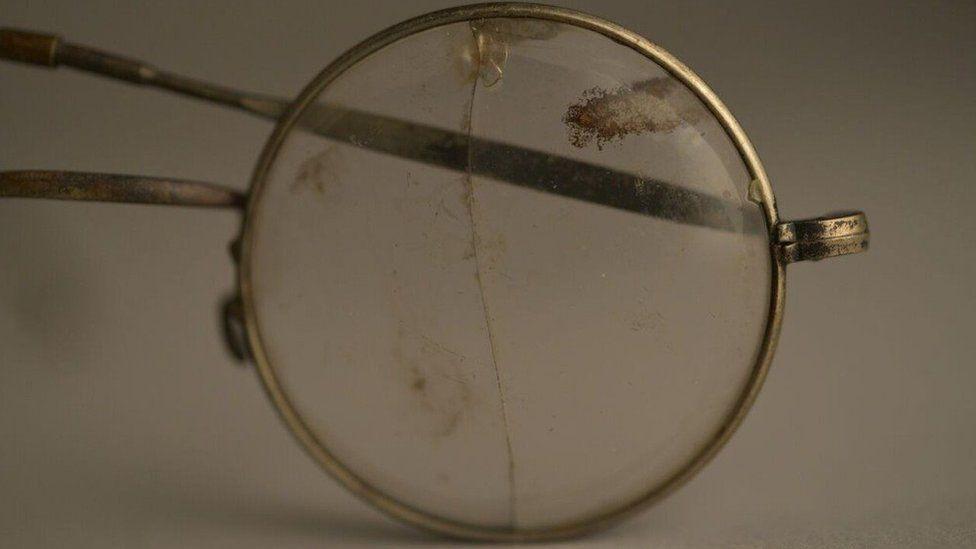 Pair of eye-glasses that belonged to an Auschwitz victim