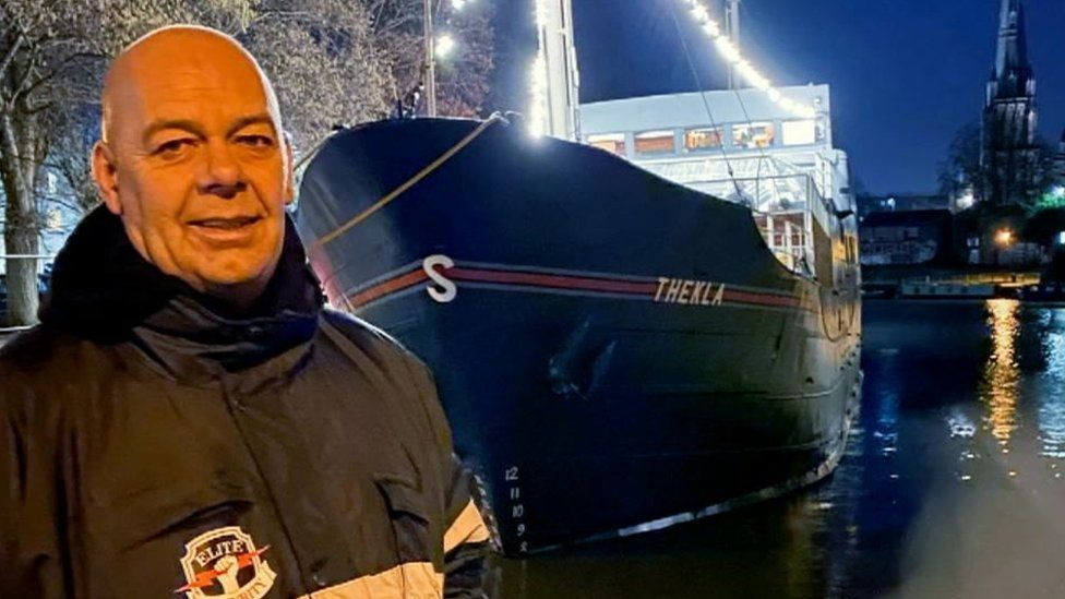Grayson Underhill was on duty at the Thekla when the woman jumped in the water