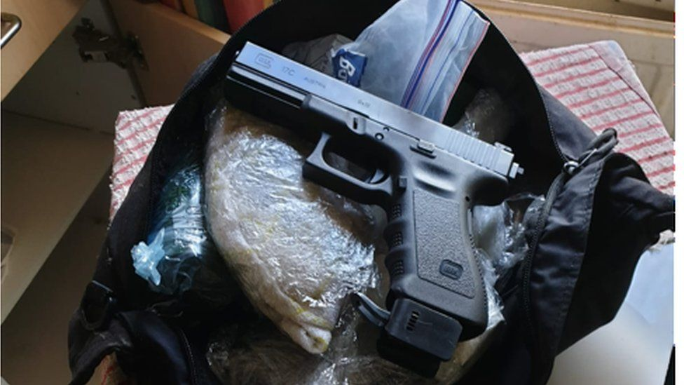 Gun found in police search
