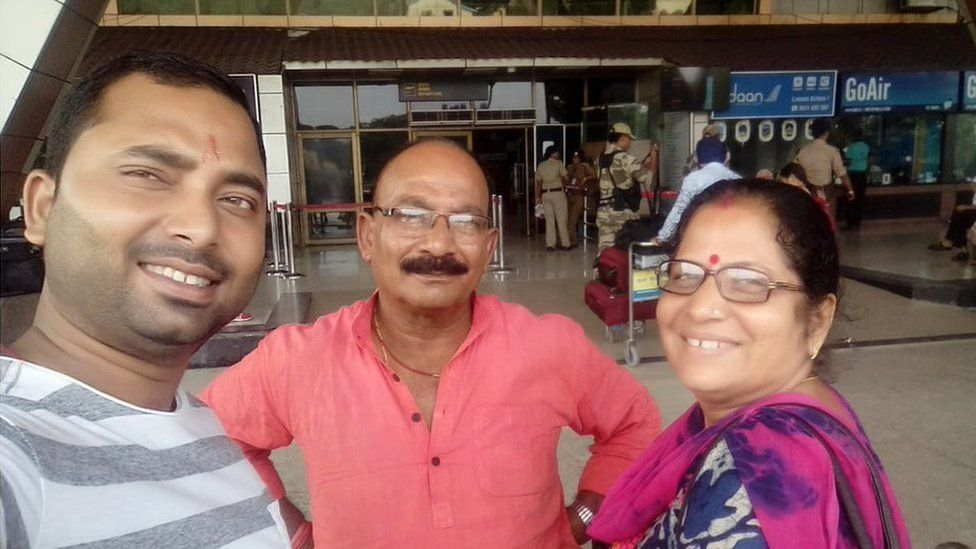 Vishal Singh with his parents
