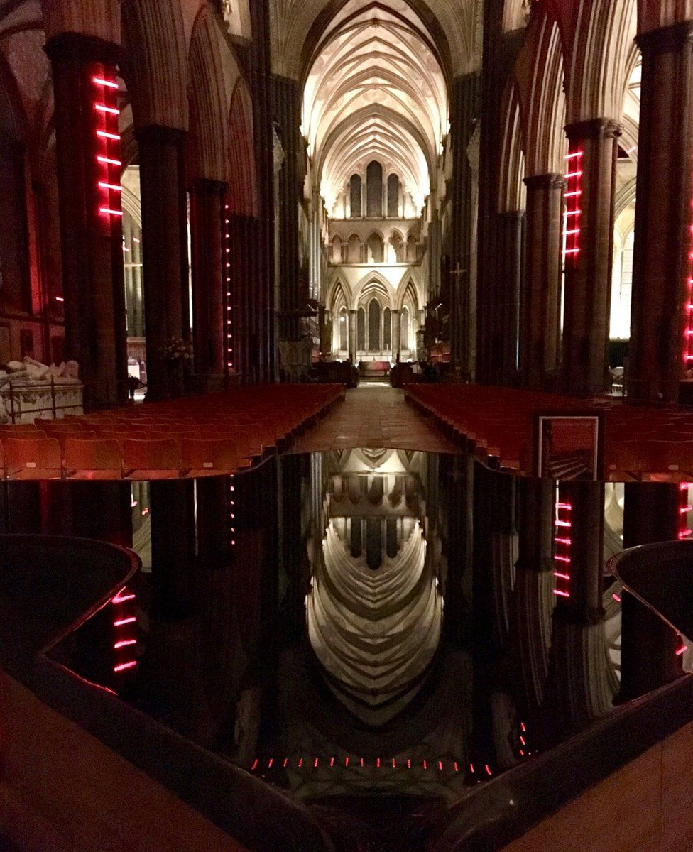 Ladders of Light installation at Salisbury Cathedral