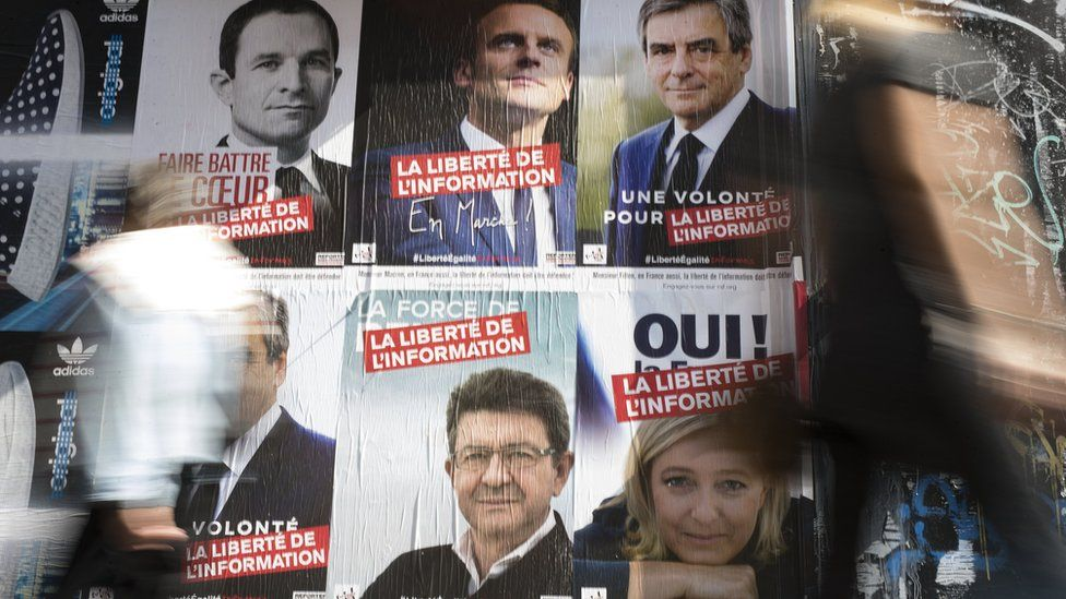 Posters for French Presidential candidates