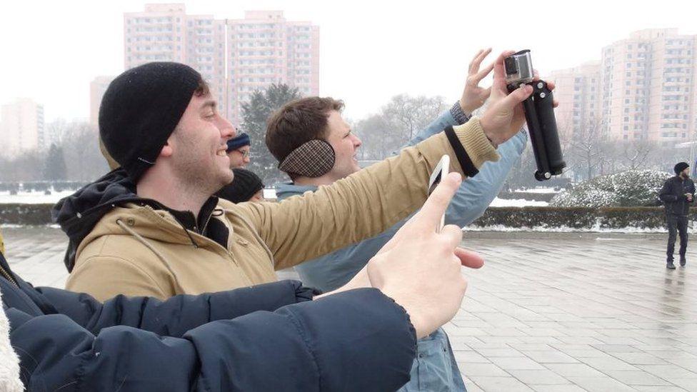 Otto Warmbier takes a selfie in North Korea