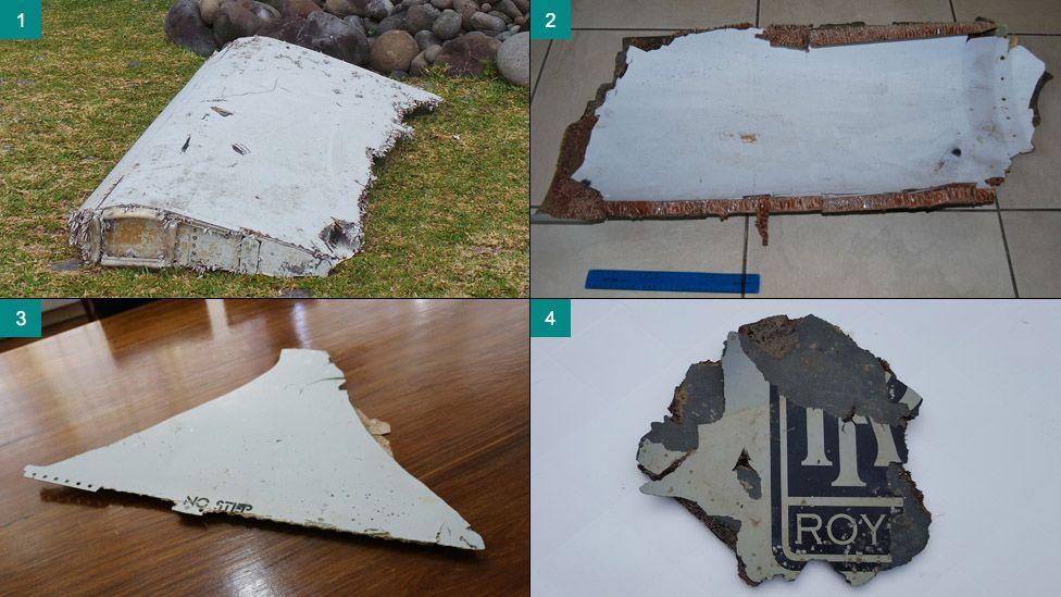 Photo composite of MH370-linked debris