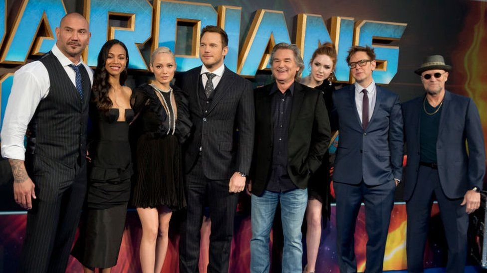 The cast of Guardians of the Galaxy Vol 2