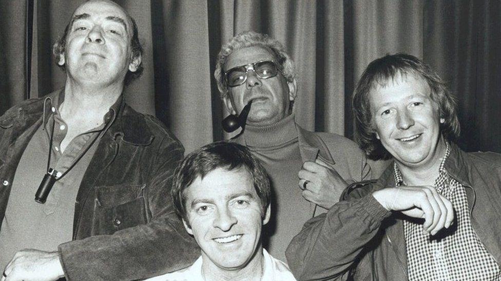 John Junkin, Denis King, Barry Cryer & Tim Brooke-Taylor in Hello Cheeky