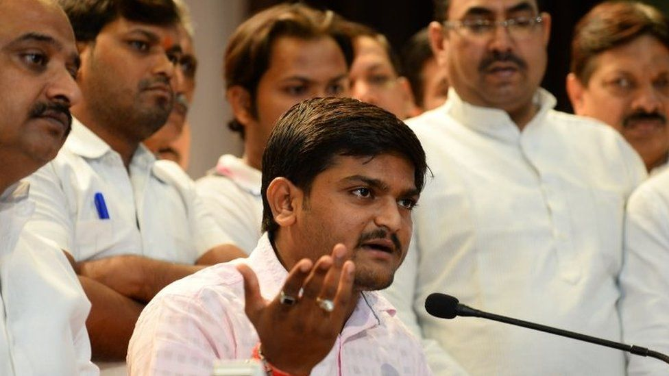 Hardik Patel addresses a press conference in Delhi on September 30, 2015