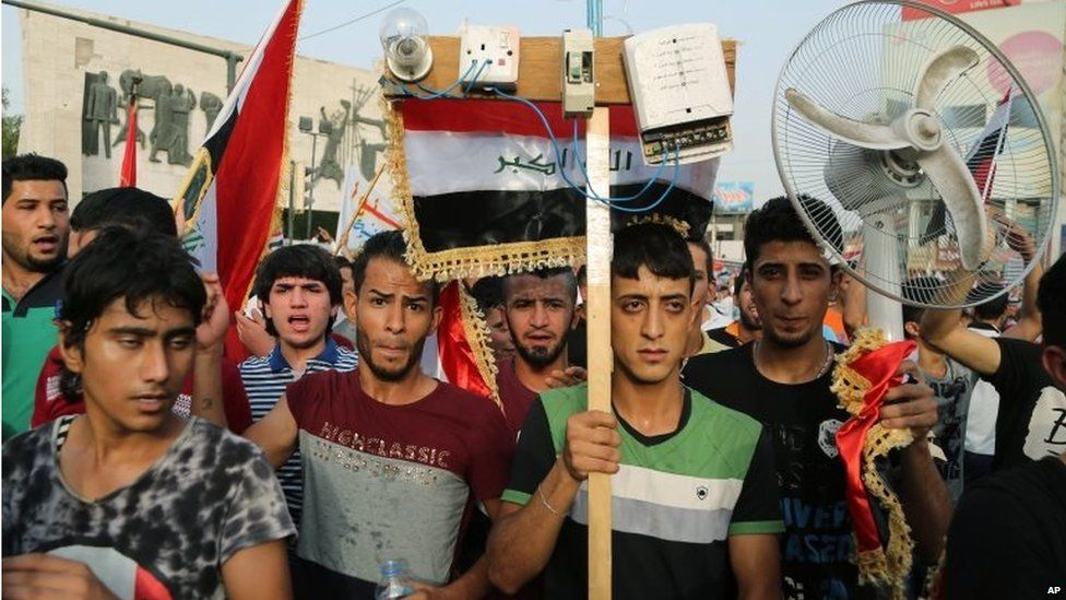 Anti-government protest in Baghdad (07/08/15)