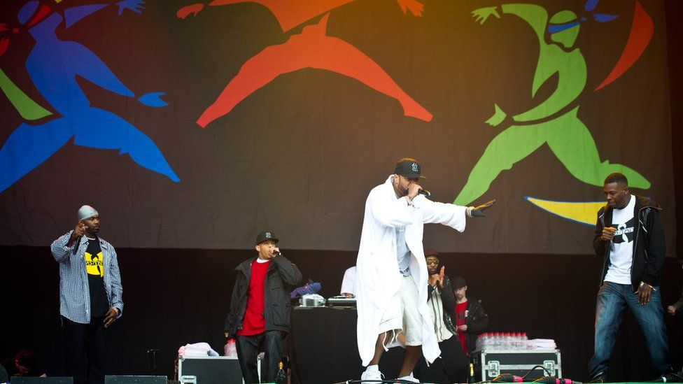 Wu Tang Clan perform live at the 2011 Glastonbury Festival