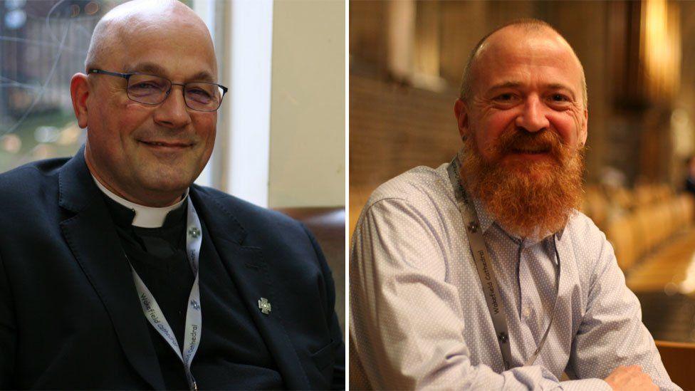 Rev Canon Simon Cowling (L), Neil Holland (R)