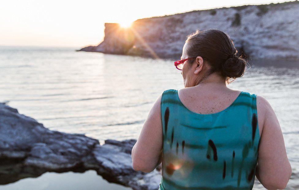 Chiara Vigo looks out to sea