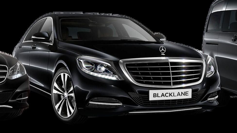 Black Mercedes car