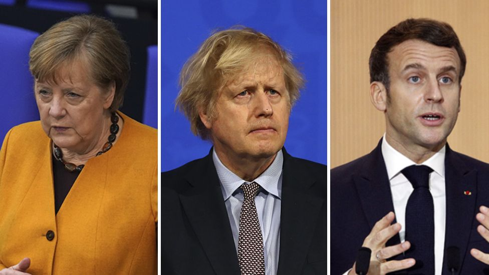 Merkel, Johnson and Macron