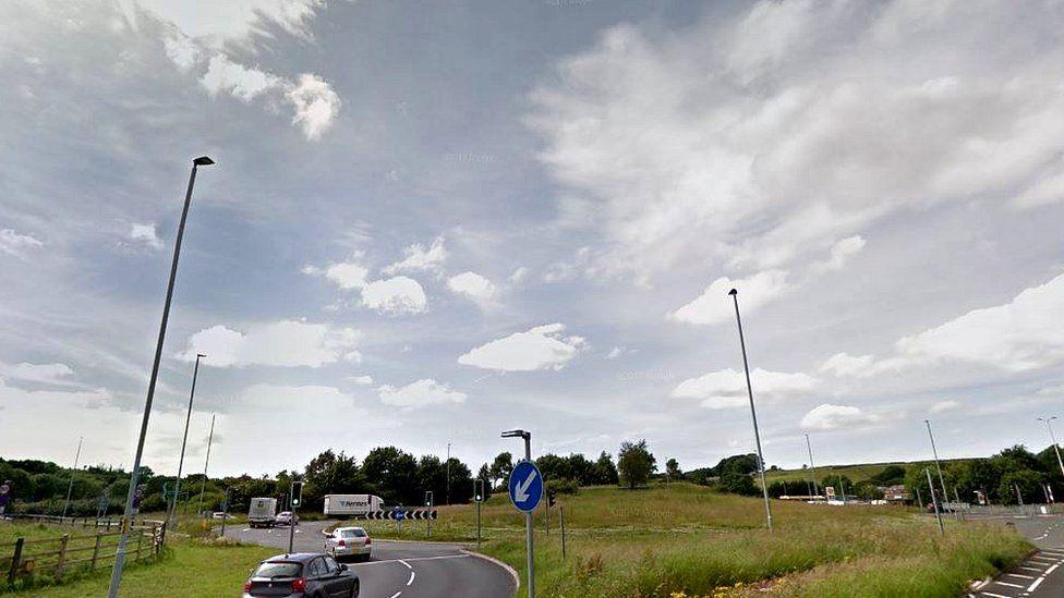 Accident scene Accrington