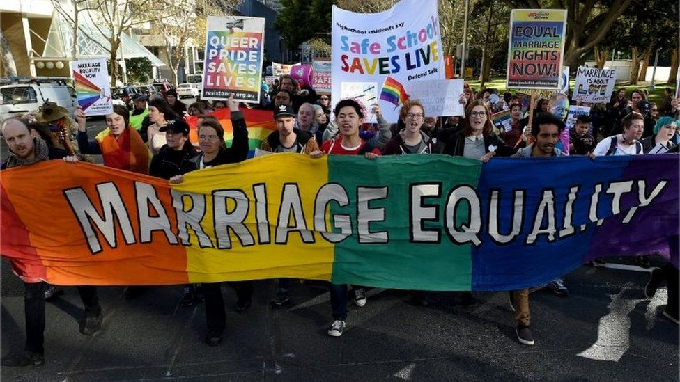 Marriage equality march in Sydney (June 2016)