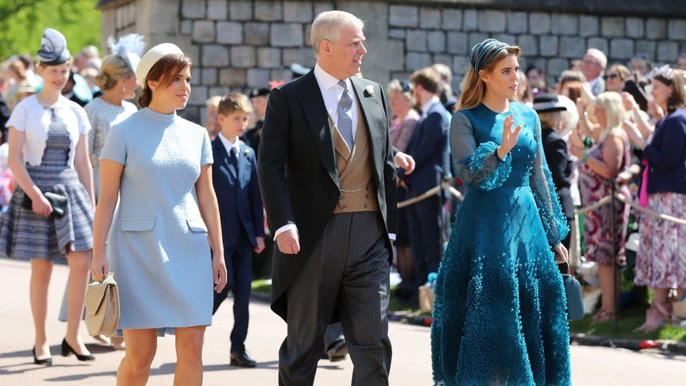 760fd3c5ae Princesses Eugenie and Beatrice with their father the Duke of York