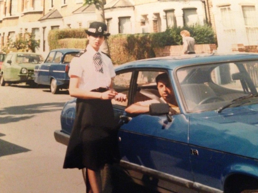 Shabnam as a young officer