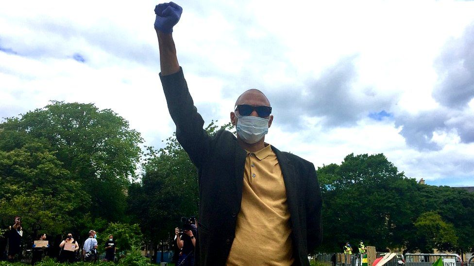 Joseph Malik, organiser for Black Lives Matter event