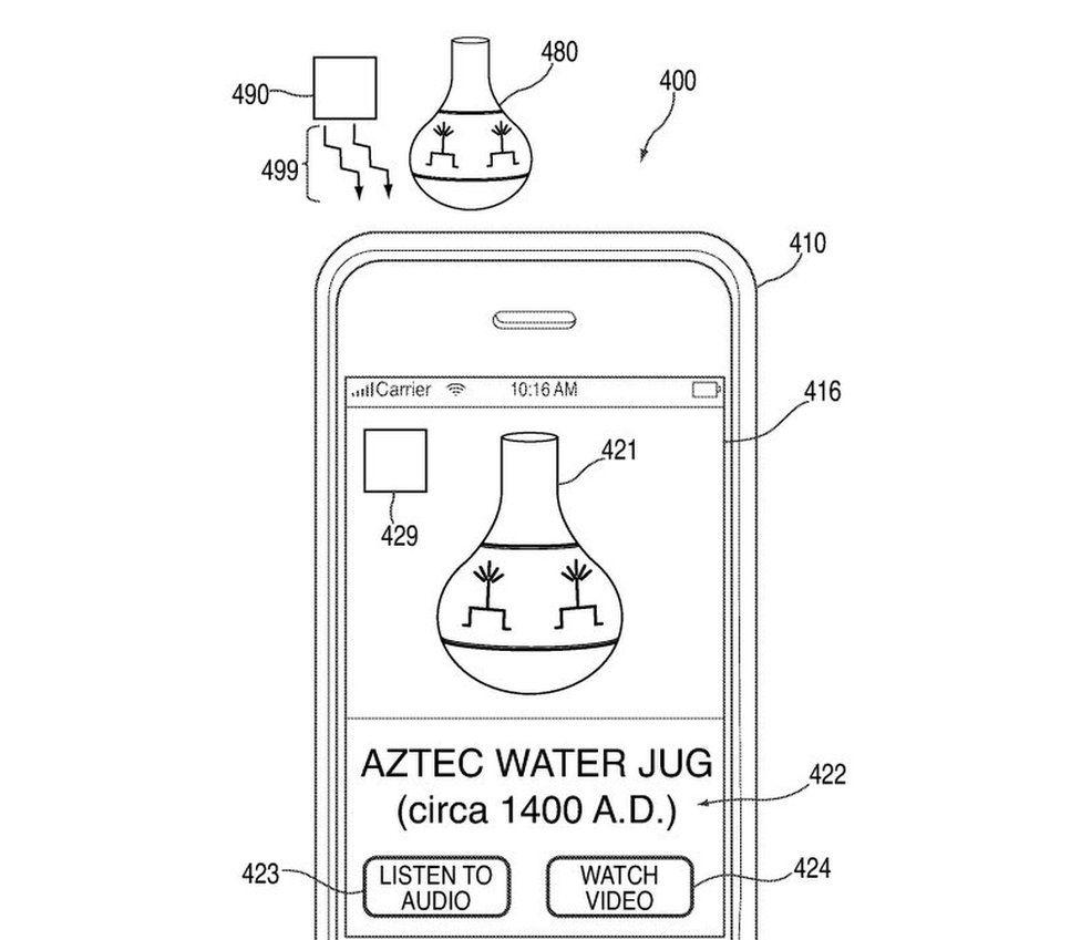 An Aztec Water Jug on a smartphone screen