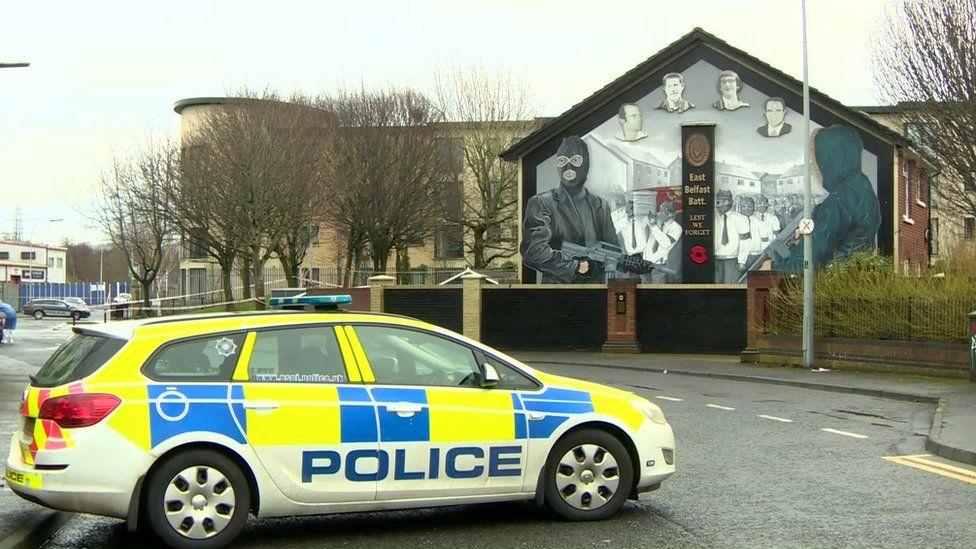 Scene of explosion attack in east Belfast