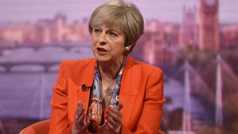 Theresa May on BBC's Andrew Marr show