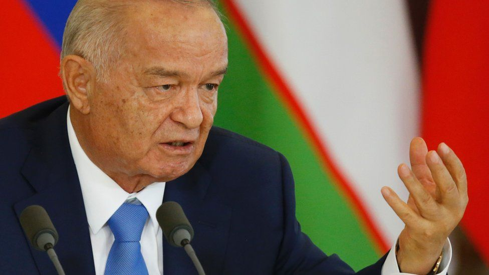 Islam Karimov pictured in 2016