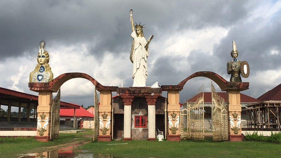 Palace grounds at Gbaramatu Kingdom, Nigeria