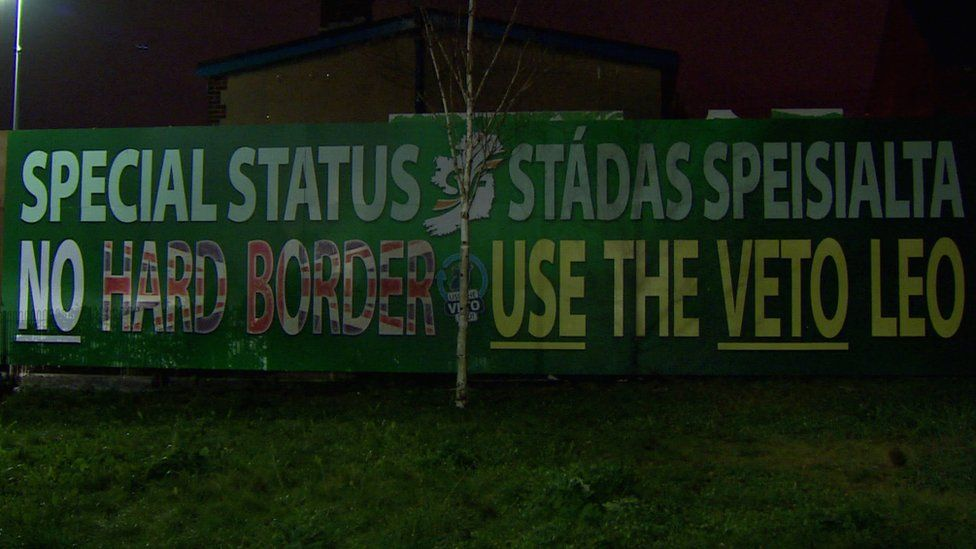The bilingual mural unveiled by Sinn Féin in west Belfast on Wednesday night