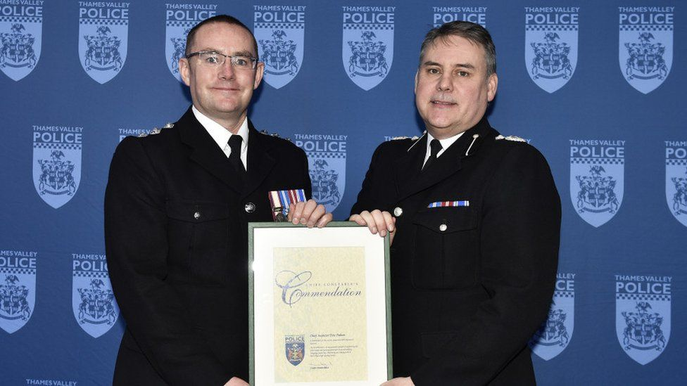 Ch Insp Pete Dalton with incoming Chief Constable John Campbell