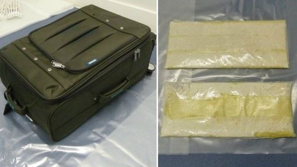Suitcase and cocaine