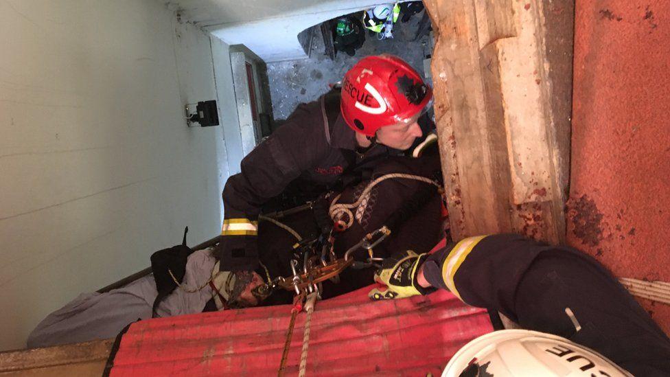 Bell-ringer rescued