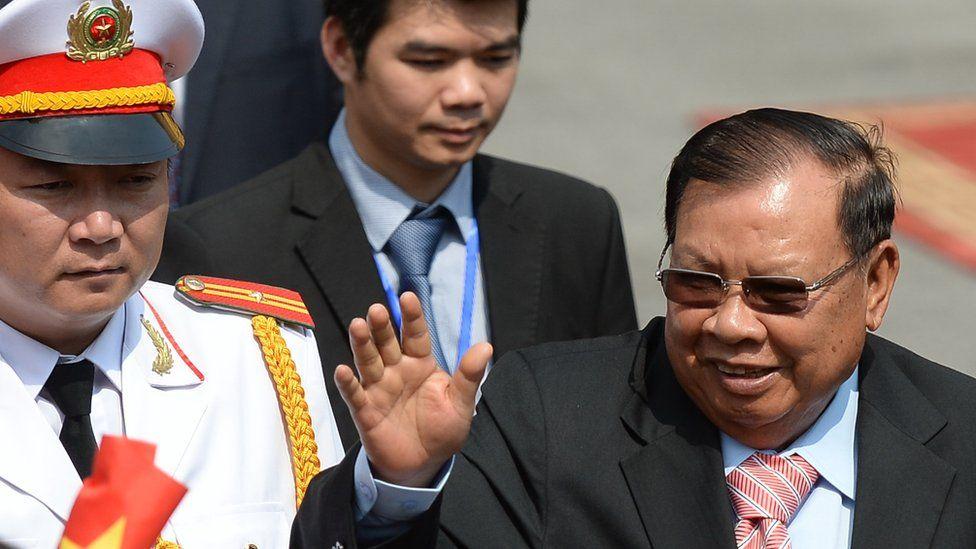 Loatian President Bounnhang Vorachit
