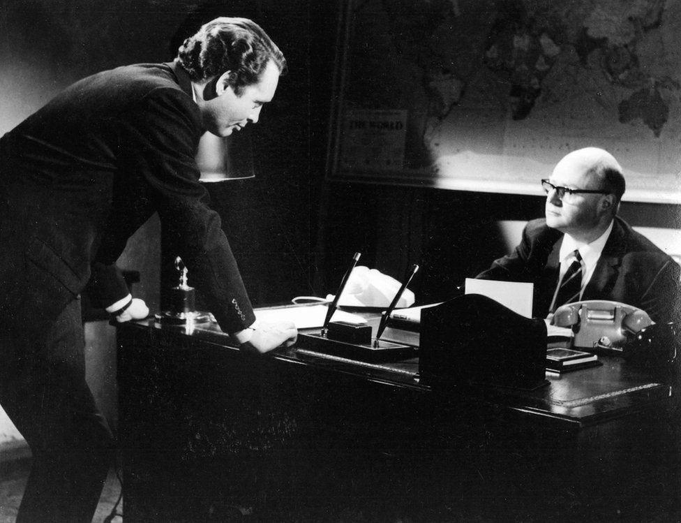 Patrick McGoohan and George Markstein