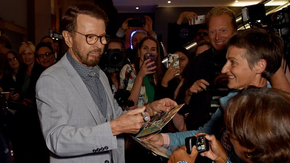 Björn Ulvaeus attending the opening night of Mamma Mia! The Party at London's O2 in 2019