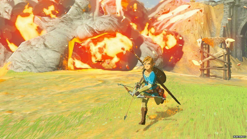 A screen shot from a Nintendo game