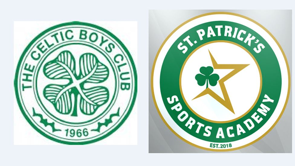Celtic Boys Club and St Patrick's Sports Academy badges