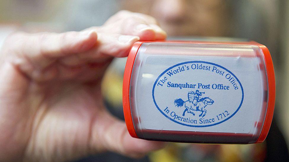 Sanquhar post office stamp
