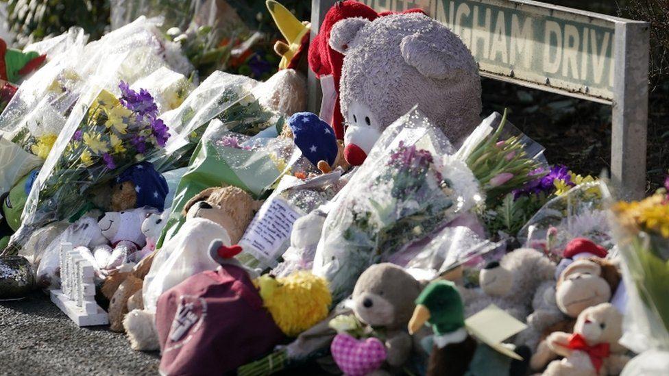 Tributes near the scene