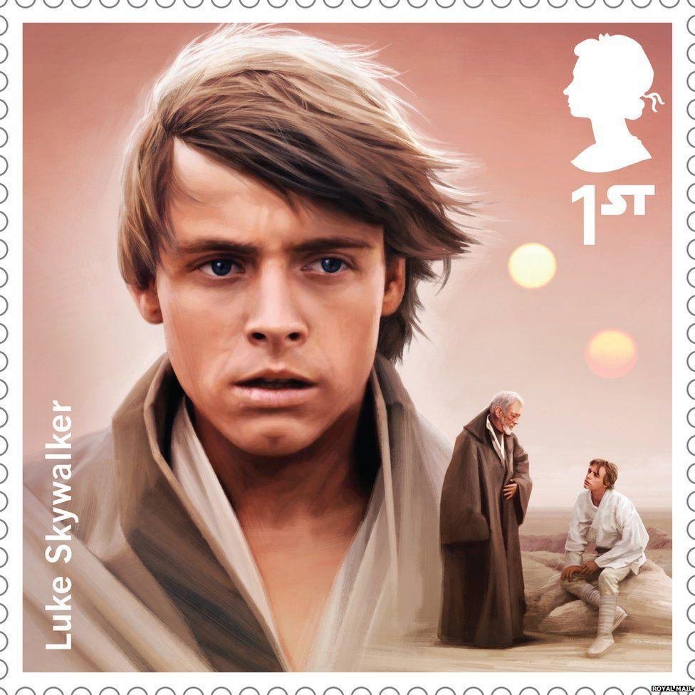 Luke Skywalker stamp