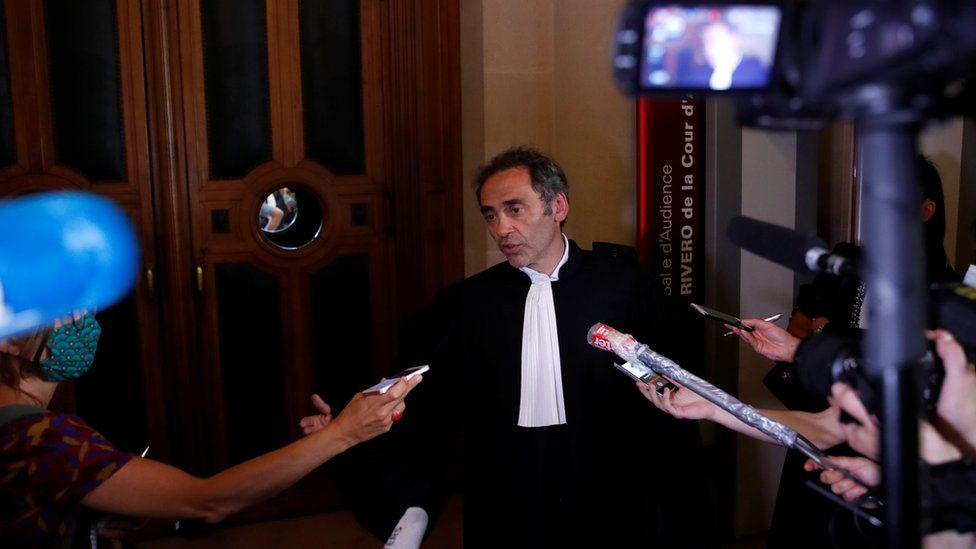 """Rwandan genocide suspect Felicien Kabuga""""s extradition hearing at Paris courthouse"""
