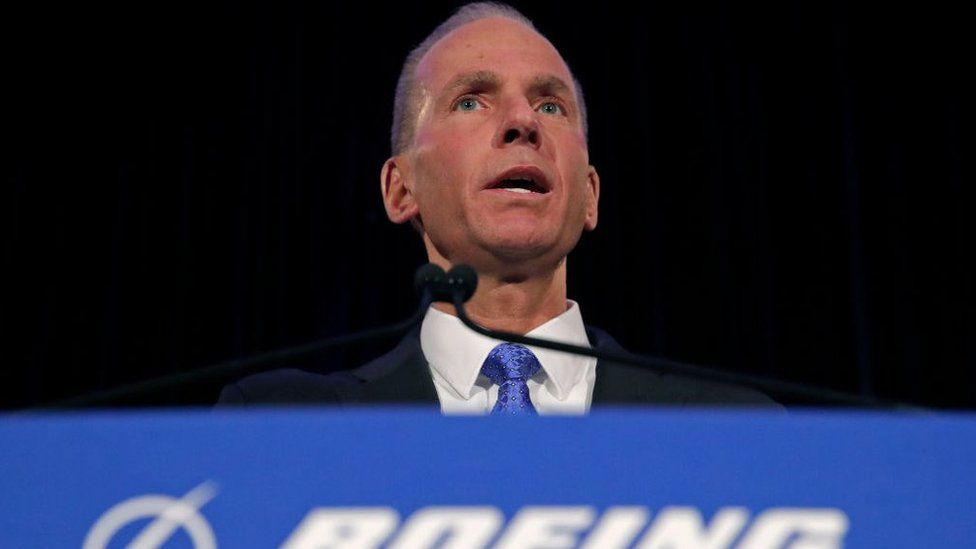 Boeing Chief Executive Dennis Muilenburg