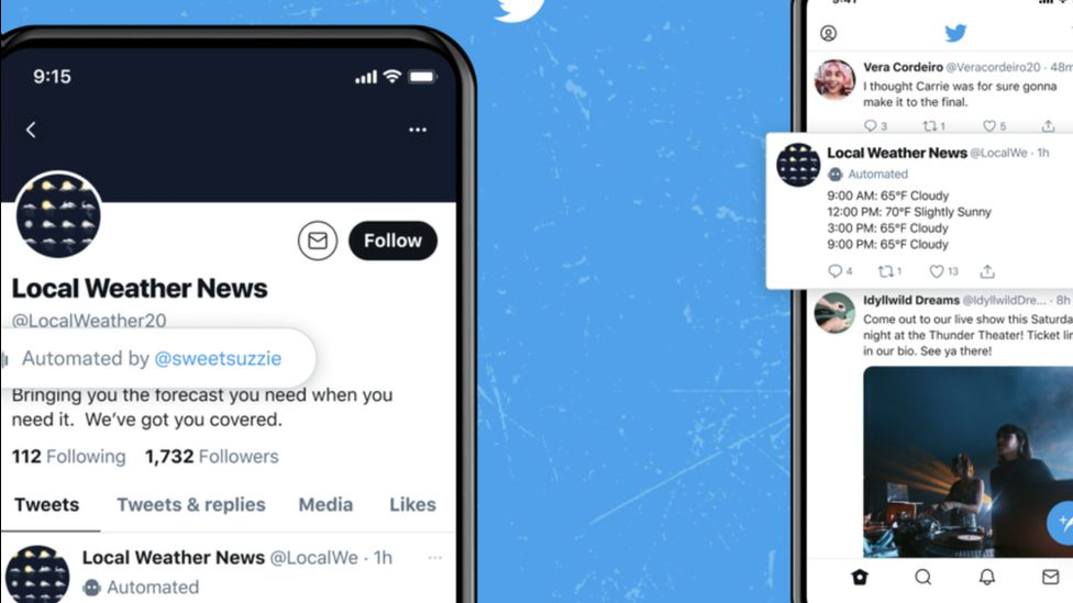 Example of Twitter's new label