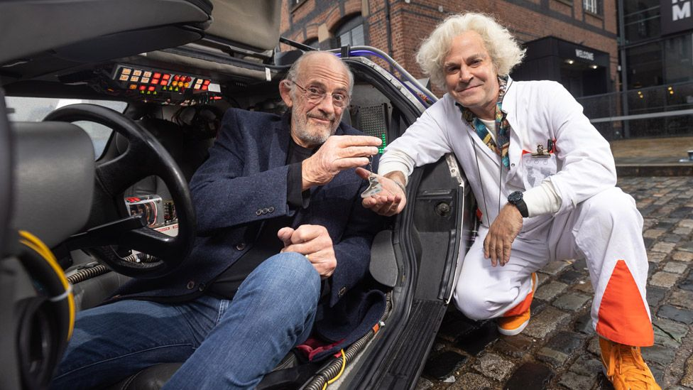 Christopher Lloyd and Roger Bart