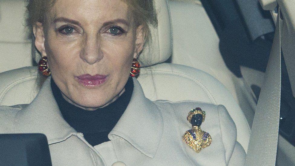 Princess Michael of Kent with the blackamoor brooch