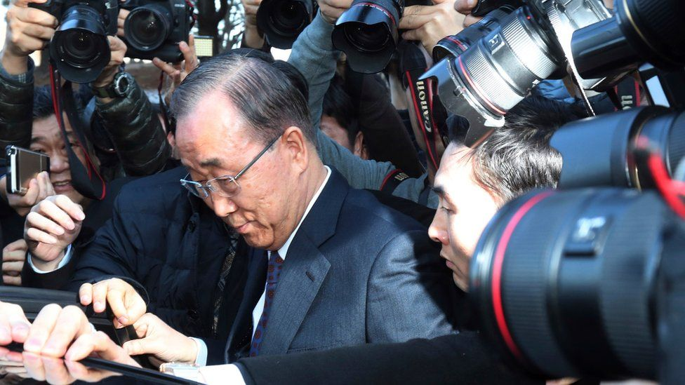 Former U.N. Secretary-General Ban Ki-moon gets into a car after a press conference at the National Assembly in Seoul, South Korea, Wednesday, Feb. 1, 2017.