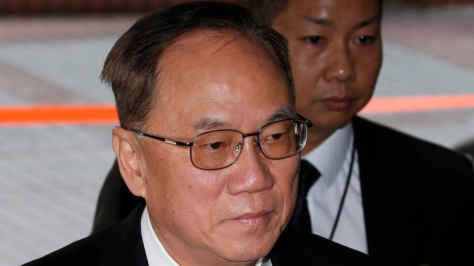Former Hong Kong Chief Executive Donald Tsang arrives at the High Court to face trial on charges of misconduct in Hong Kong, China 3 January 2017.